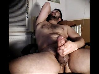 Hairy indian horny Men cock play and Cum