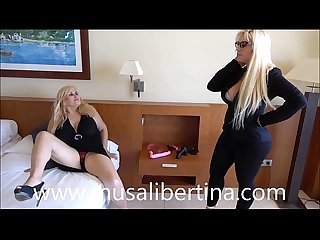 Musa libertina enjoys lesbian sex with hotel manager blondie fesser