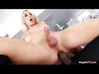 Tgirl superstar Aubrey Kate anal by bbc