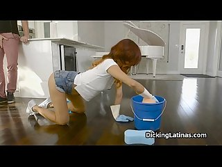 Latina maid fucks for extra cash