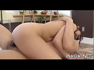 Two fellows boned hot oriental milf making her suck their cocks on her knees