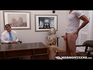 Mormon Teen Zoe Parker Fucked While Boyfriend Watches