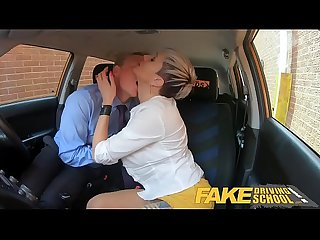Fake Driving School Boss fucks sexy hot blonde employee Tanya Virago