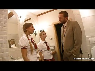 Hot teens mina and morgan fucked at the principal office 1