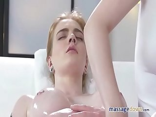 Lesbian Masseuse Carly Rae and Daphne Angel