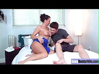 (Lezley Zen) Sexy Busty Housewife In Hardcore Sex Tape clip-19