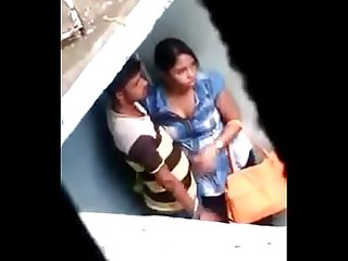 Assam sexy girl boob s press at barpeta road railway station below over bridge