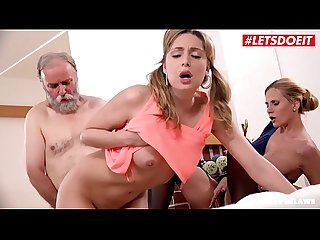 LETSDOEIT - Kinky Daddy Fucks His MILF Wife And Stepdaughter (Klara & Sparta)