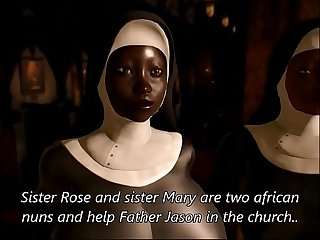 Priest and african nun sluts