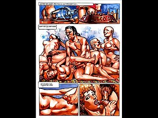 Erotic female hardcore anal sex comic