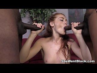 Redhead Teen Alice Green Interracial Creampie