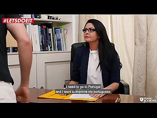 Sexy Teacher fucked hardcore by the horny school principal!