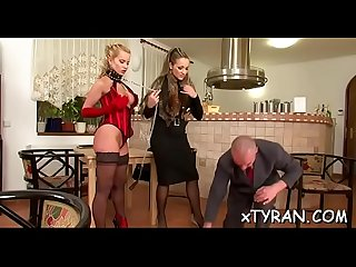 Nasty Dominatrix bitch dominates fellow