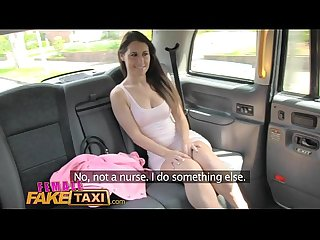 Female fake taxi lesbian pussy eating session in cab