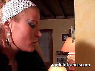 Sexy small titted french whore ass fucked with cum 2 mouth