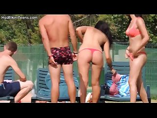 Bikini topless teens voyeur hd video