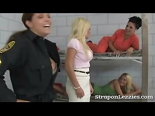 Blonde dominated in female prison