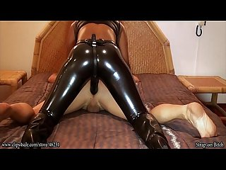 Deep ebony Bdsm pegging
