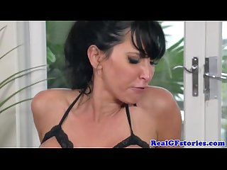 Real housewife gets a sticky facial