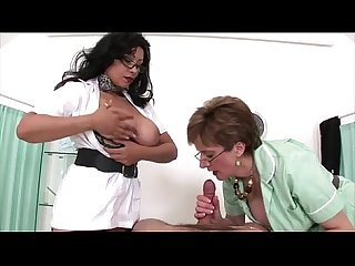 Femdom mature hotties use their big tits
