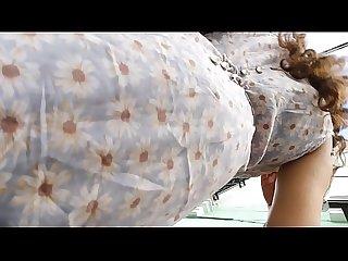 Upskirt voyeur a sexy mexicana, linda cara y tanga metida en las nalguitas