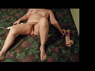 Part1 my wife using a huge dildo and her vibrator for a good orgasm