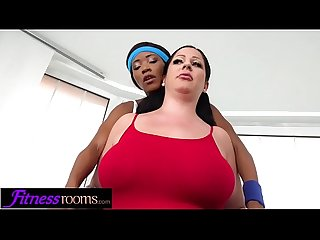 Fitness rooms ebony uk gym bunny kiki minaj licks busty babe anissa jolie