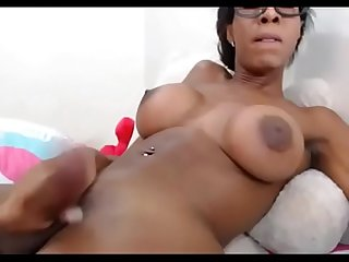 Black ts queengiselle cum on basedcams com