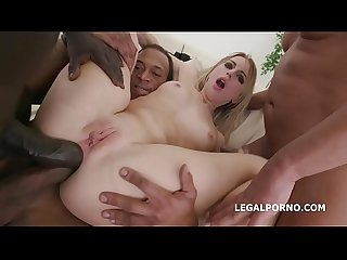 Blackened slut Kira Thorn 3 BWC 3 BBC = Double DAP Session = BARBARIC!