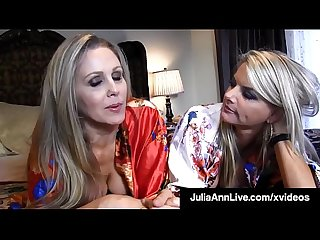 Busty Blonde Bombshells Julia Ann & Vicky Vette Tongue Fuck!
