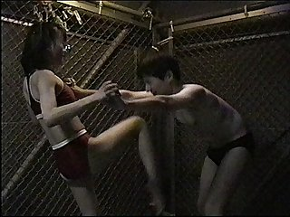 Japanese boy was knocked out by girl s ballbusting