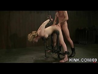 Pretty hot babe bound comma oiled comma punished