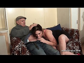 French squirt brunette hard double penetrated and gangbanged with papy voyeur
