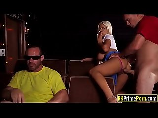 Bridgette B fucked in the movie house