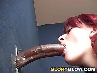 Redhead Nikki Sucks BBC - Gloryhole