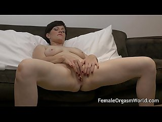 Horny Milf masturbating fleshy pussy to multiple orgasms