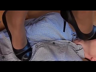 Forced feet worship russian female boss force her computer tehnician to worship her pantyhose feet E
