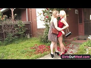 Lascivious blondes finger each other