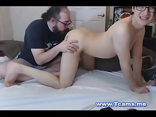 Teen tranny gets hot rimjob from sugar daddy