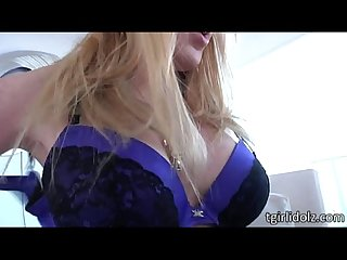 Big boobs shemale juliette stray screws her beefy cock deep inside pussy