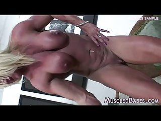 Amazing mature bodybuilder solo scene