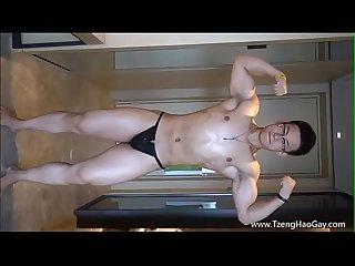 Handsome muscular marine