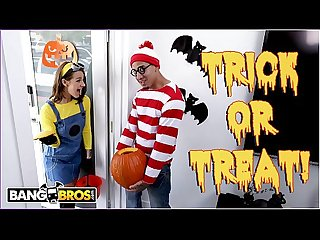 BANGBROS - Trick Or Treat, Smell Evelin Stone's Feet. Bruno Gives Her Something Good..
