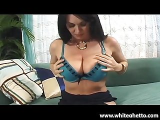 Big tits hairy milf rayveness gets pov creampie