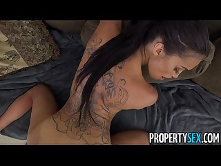 PropertySex - Dude fucks insane hot ass Latina real estate agent