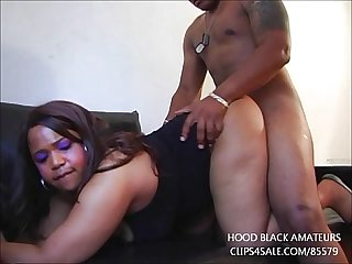 EBONY GIVES GREAT BLOWJOB AND GETS FUCKED IN FIRST TIME VIDEO!!