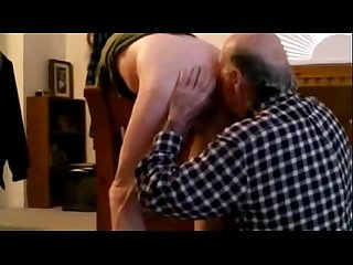 Hot passionate old man rimes and swallow until last drop