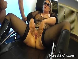 Blond milf fist fucked in her insatiable vagina
