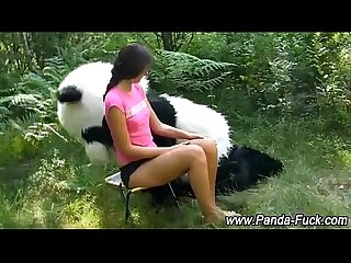 Fetish teen gets it on with toy panda