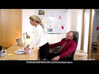 KINKY INLAWS - Nicole Love fucks stepfather and his secretary